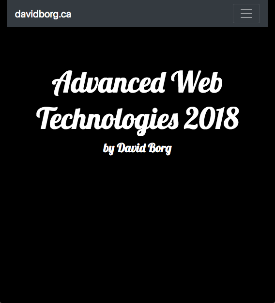 Advanced Web Technologies Website Screenshot