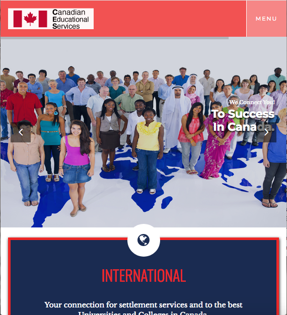 Canadian Education Services Website Screenshot